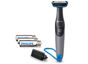 Philips Bodygroom series 1000 body groomer BG1025 15 Unique Skin Protector 3mm trimming comb 100 waterproof 3 AA batteries