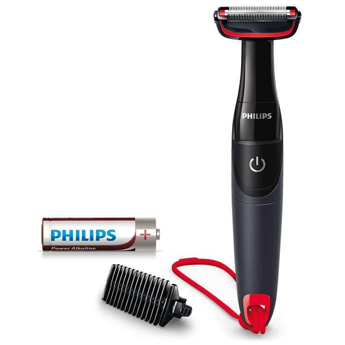 Подстригва космите по тялото, предпазва кожата