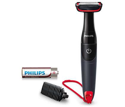 קוצץ את שיער הגוף ומגן על העור