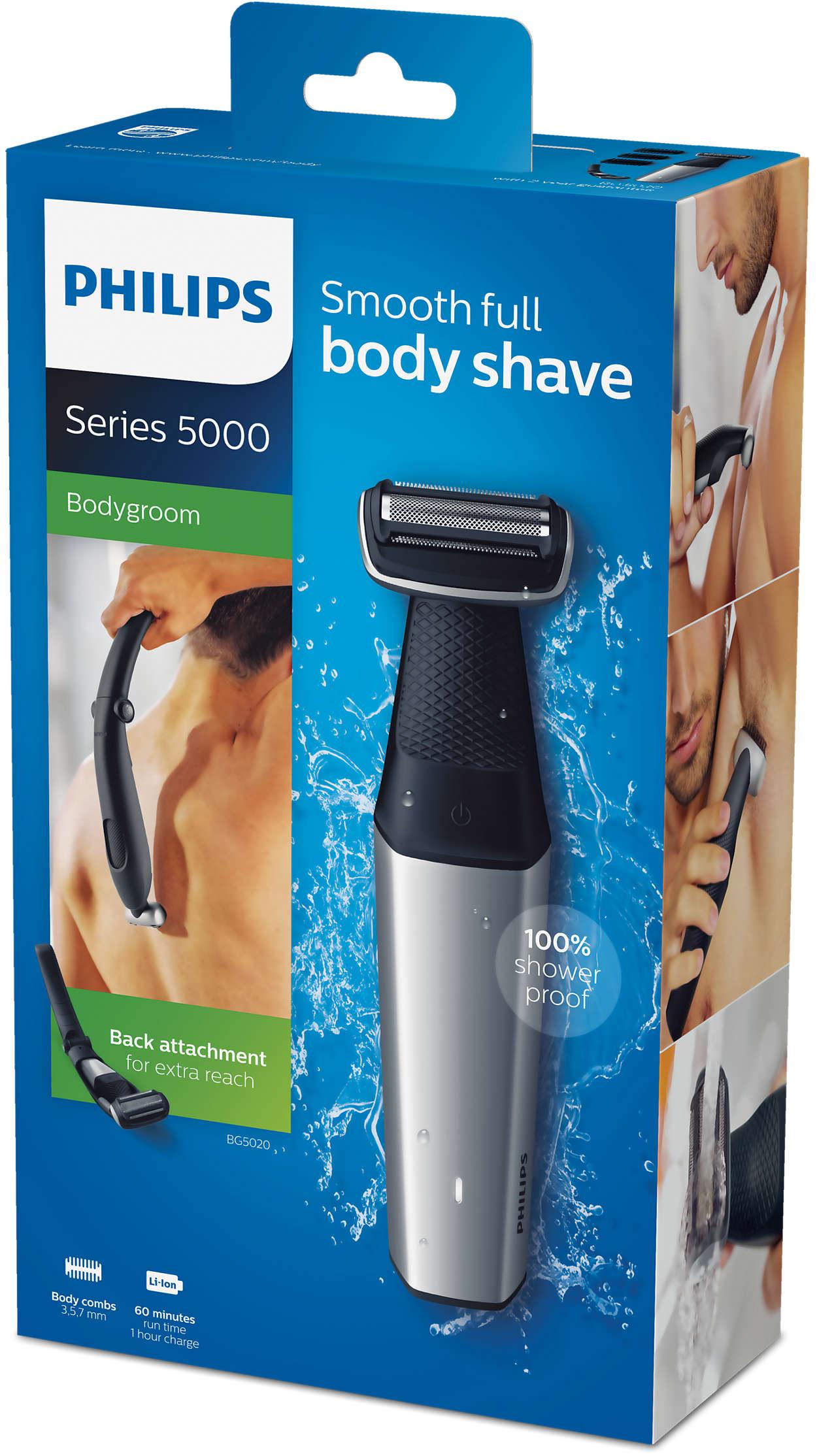 Bodygroom series 5000 Zuhanyzásbiztos testszőrtelenítő BG5020 15 ... 524b7e8ccc