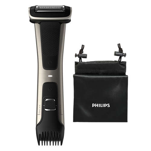 Showerproof body groomer