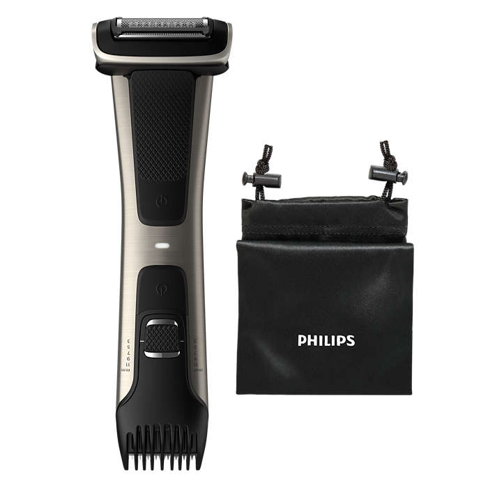 Tosidig bodygroomer for behagelig trimming eller barbering