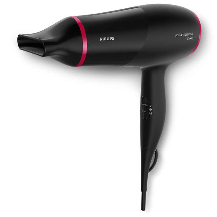 Rask hårføning og mindre strømbruk