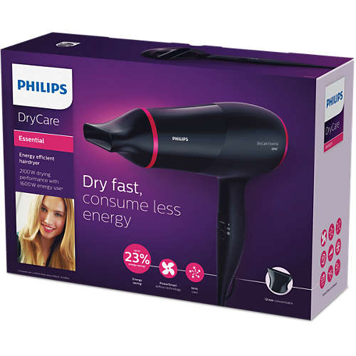 DryCare Essential Energy efficient hairdryer