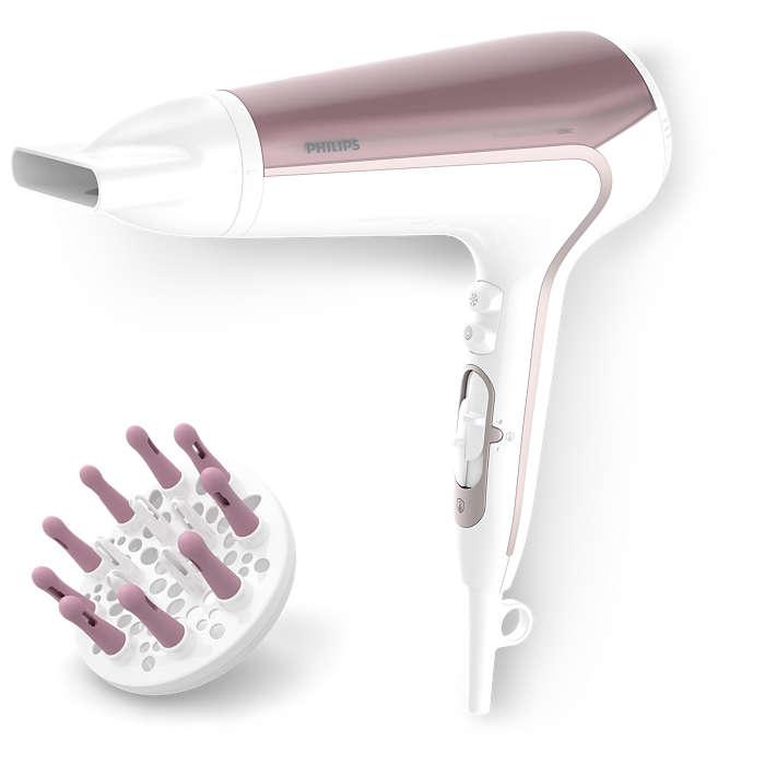 Aktywna ochrona przed przegrzaniem — zdrowe i lśniące włosy*