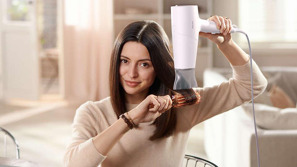 Sấy tóc nhanh khô, bảo vệ tóc không bị quá nóng**