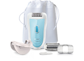 Philips Satinelle Advanced Epilator BRE210 00 For legs  arms and armpits 2 speed settings Cordless Root hair removal at home
