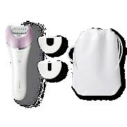 Satinelle Advanced Épilateur utilisable sur peau sèche ou humide