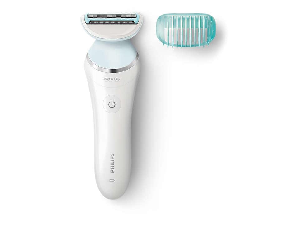 Desliza suavemente para uma depilação suave para a pele
