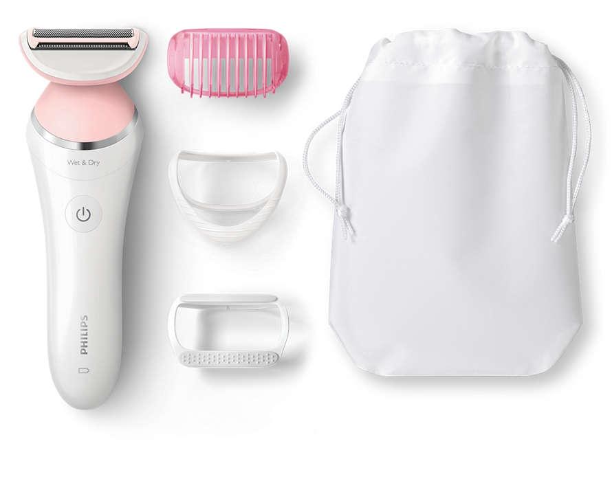 Плъзга се леко за бръснене с нежност към кожата