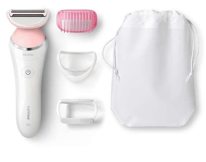 Płynny ruch po skórze zapewniający delikatne golenie