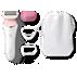 SatinShave Advanced Snabbt len hud varje dag, 3 tillbehör ingår