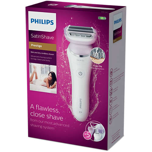 SatinShave Prestige Wet & dry cordless electric shaver