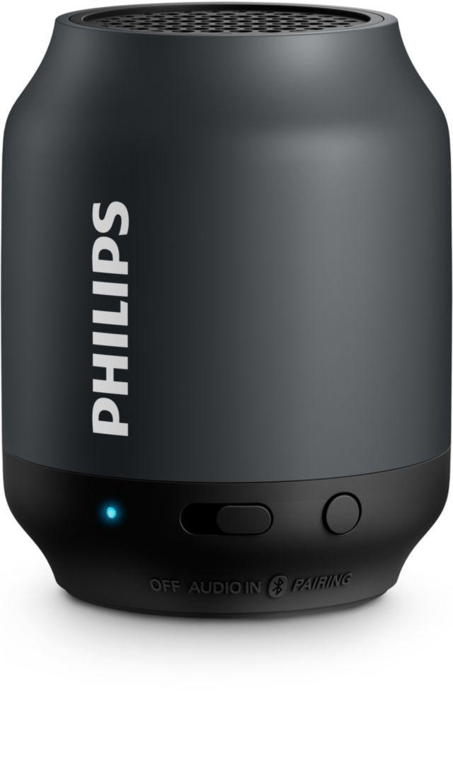 Philips tragbarer, kabelloser BT-Lautsprecher BT50 (BT50B/00)