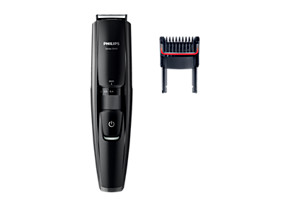 Philips Beardtrimmer series 5000 Stubble trimmer BT5200 15 0.2mm precision settings Full metal blades 60 min cordless use 1h charge Integrated hair lift comb