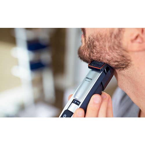 Beardtrimmer series 5000 Vår raskeste trimmer for perfekt skjeggstubb