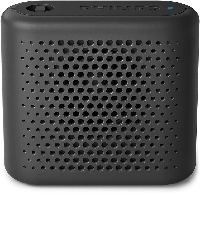 Intensywny dźwięk z głośnika, który mieści się w dłoni