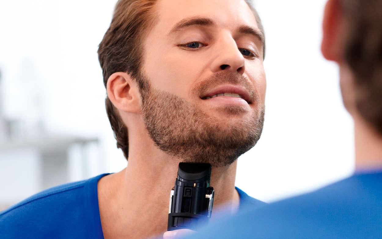 c1073e1f6 Beardtrimmer series 7000 Aparador de barba com sistema a vácuo ...