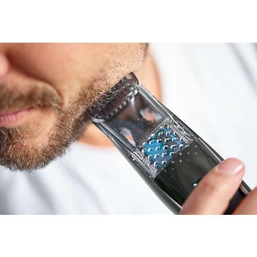 Beardtrimmer series 7000 Trymer z systemem zasysania ściętego zarostu