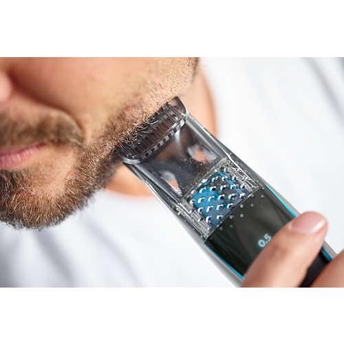 Beardtrimmer series 7000 Partatrimmeri imutekniikalla