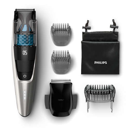 Beardtrimmer series 7000 Vacuum trimmer