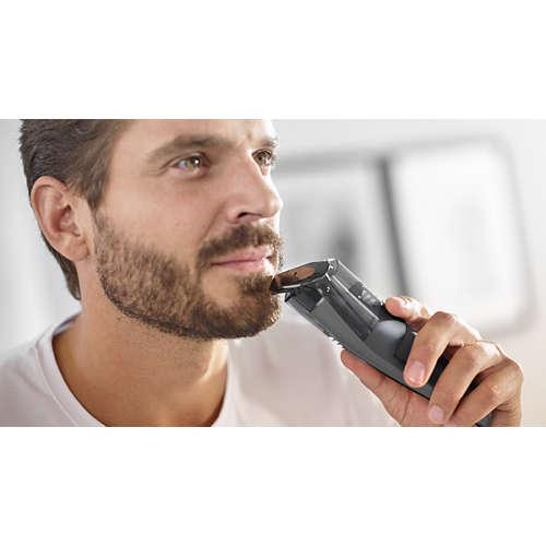 Aparat de tuns barba cu aspirare
