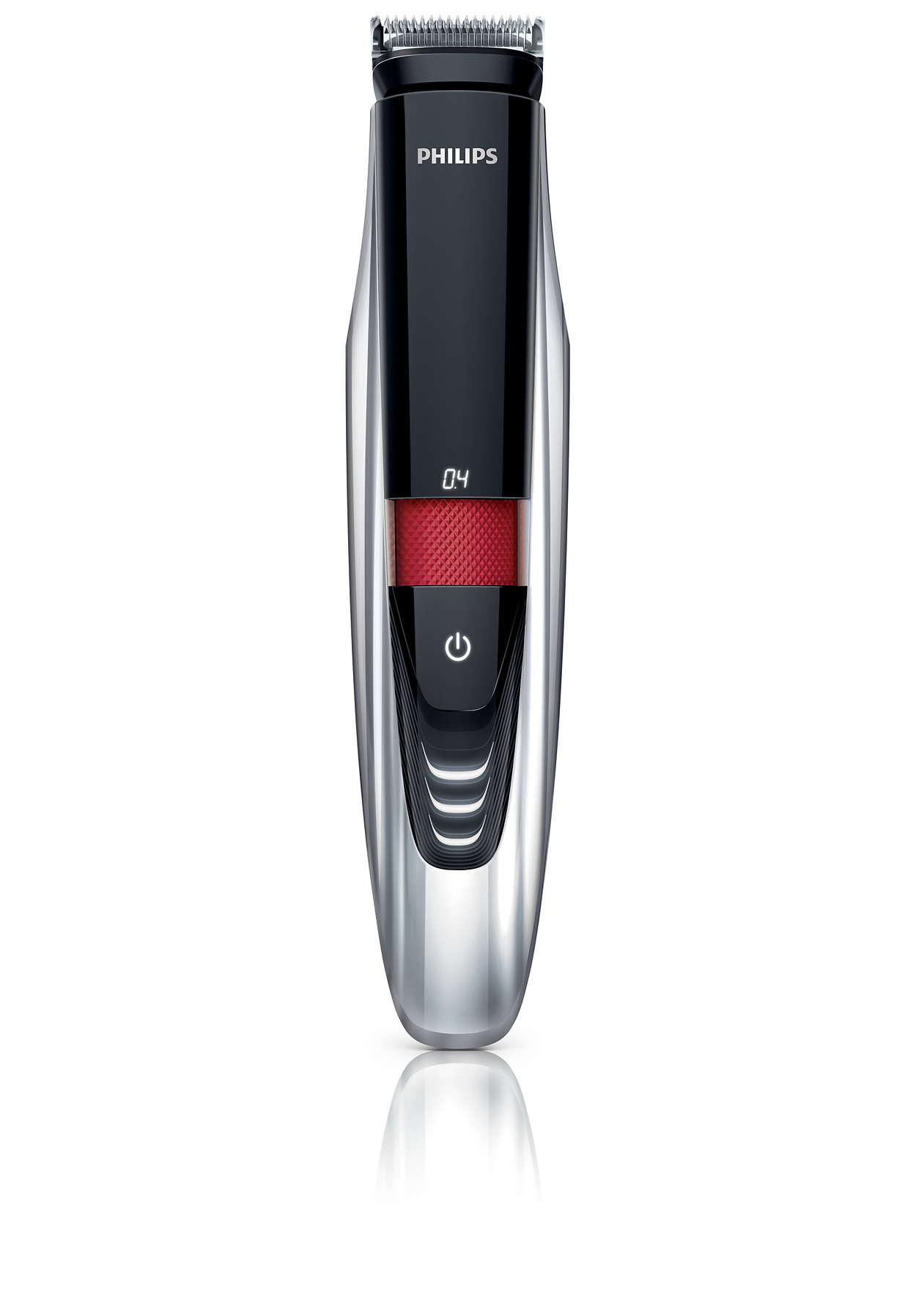 Høyeste presisjon med verdens eneste skjeggtrimmer med laserguide