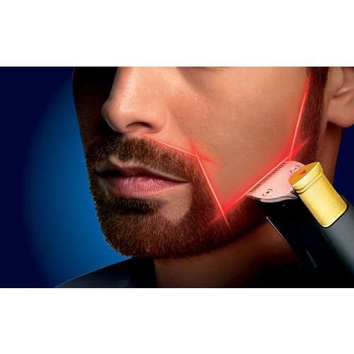Beardtrimmer series 9000 Tondeuse barbe à guide laser