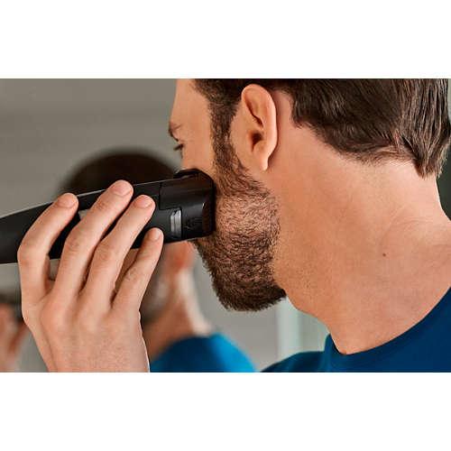 Beardtrimmer series 9000 Laser guided beard & stubble trimmer