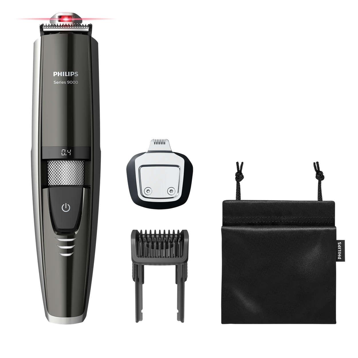La première tondeuse à barbe au monde avec guide laser