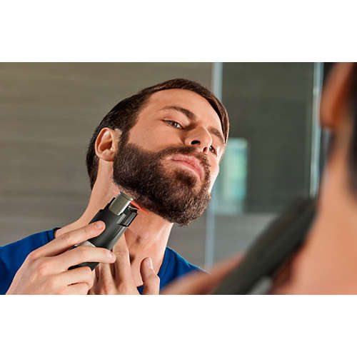 Laser guidance Full metal blades Beard trimmer