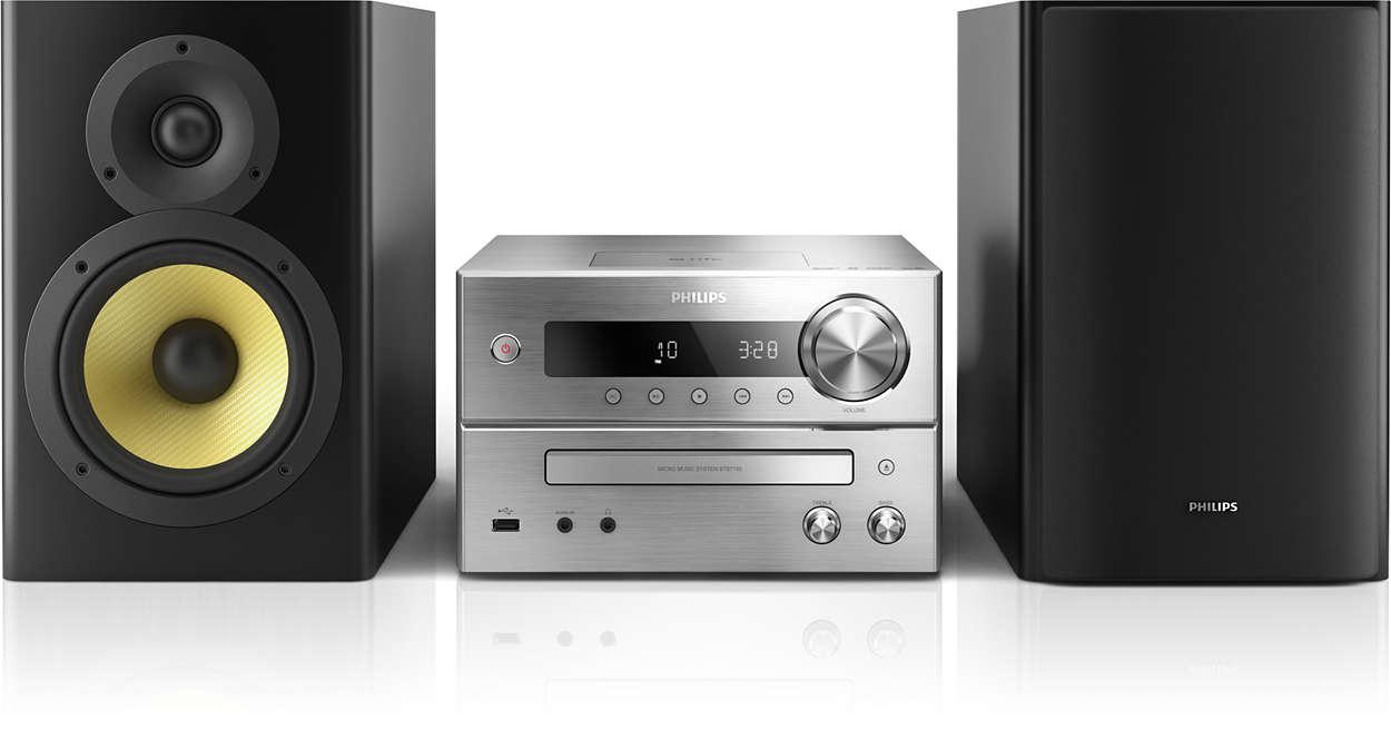 Fylligt och kraftfullt ljud