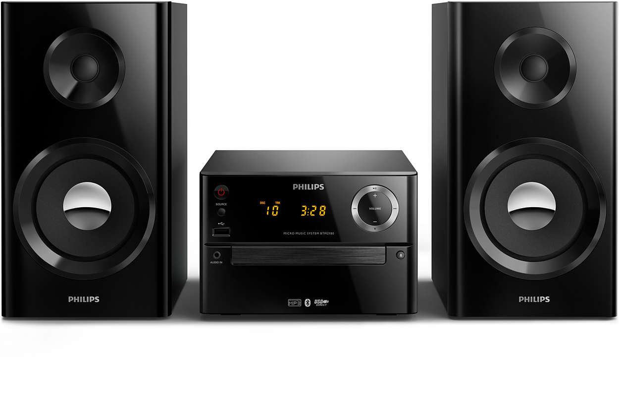 micro music system btm2180 37 philips. Black Bedroom Furniture Sets. Home Design Ideas