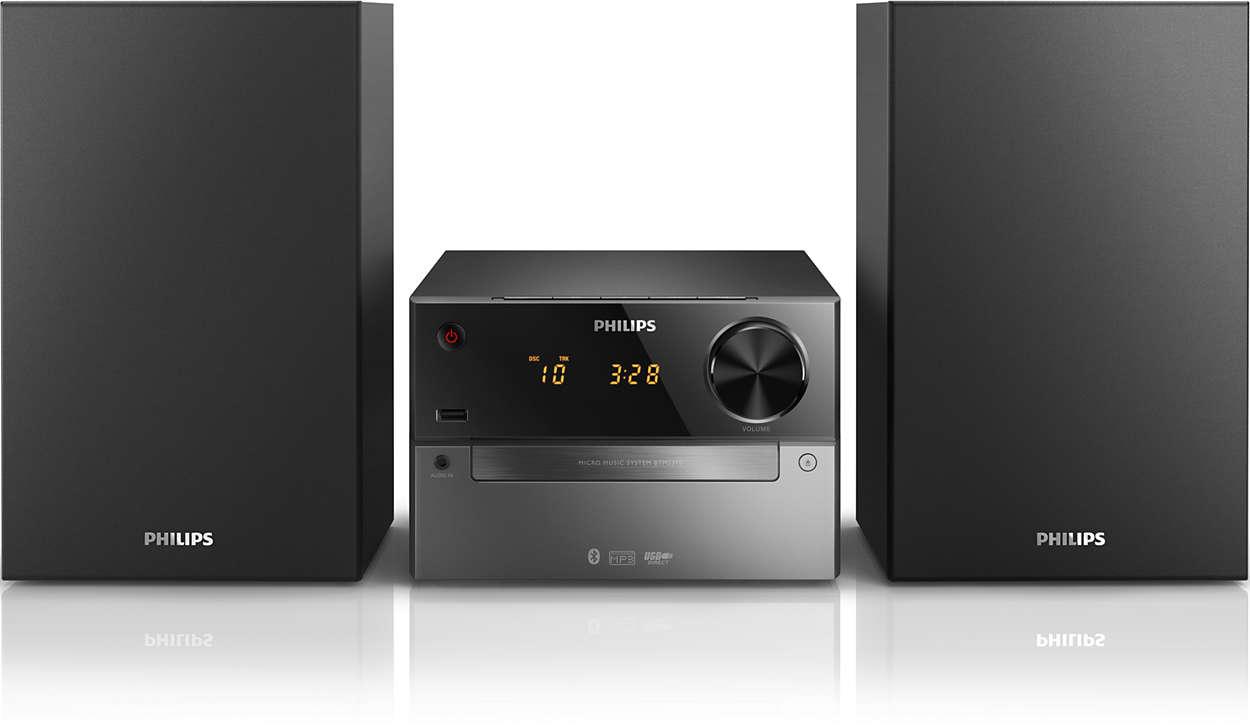 mini stereoanlage btm2310 12 philips. Black Bedroom Furniture Sets. Home Design Ideas