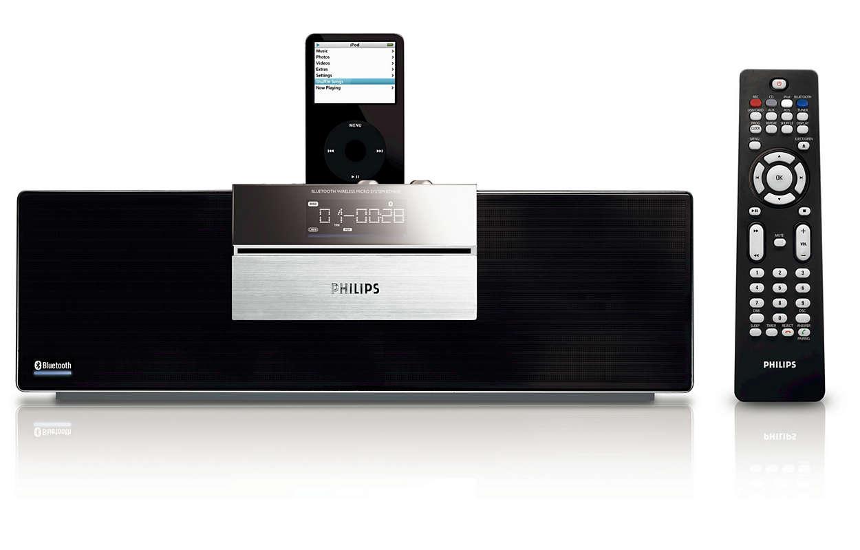 Geniet van draadloze muziek met Bluetooth®-technologie