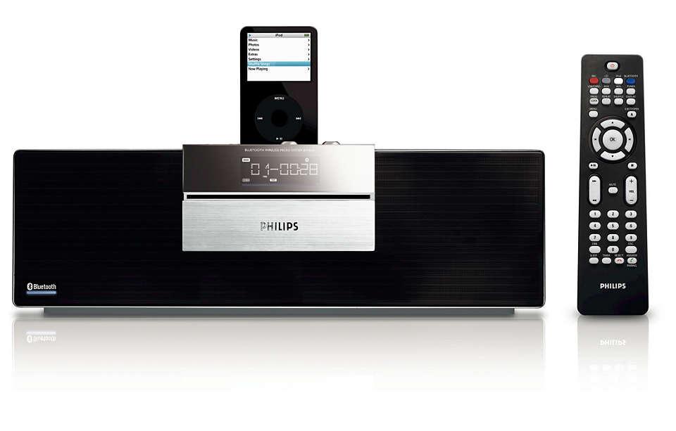Desfrute de música sem fios através da tecnologia Bluetooth®