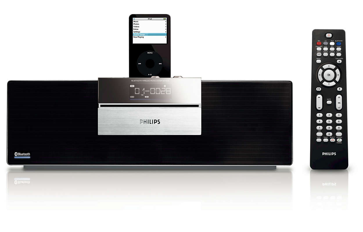 Слушайте музыку без проводов с помощью технологии Bluetooth®