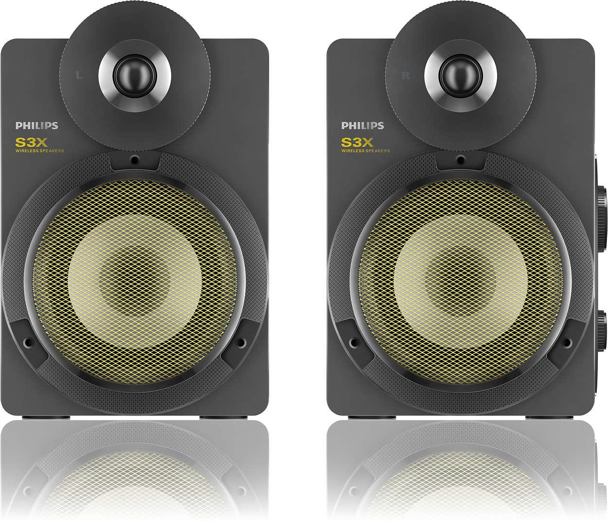 kabellose stereo lautsprecher mit bluetooth bts3000g 10. Black Bedroom Furniture Sets. Home Design Ideas