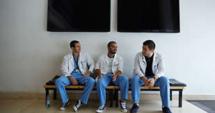 Off duty doctors in Beirut