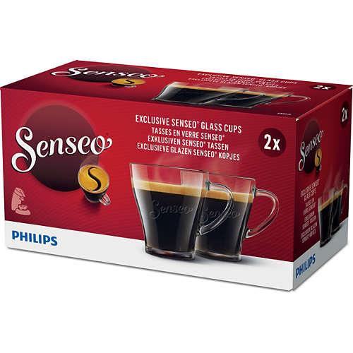 Tasses à café en verre