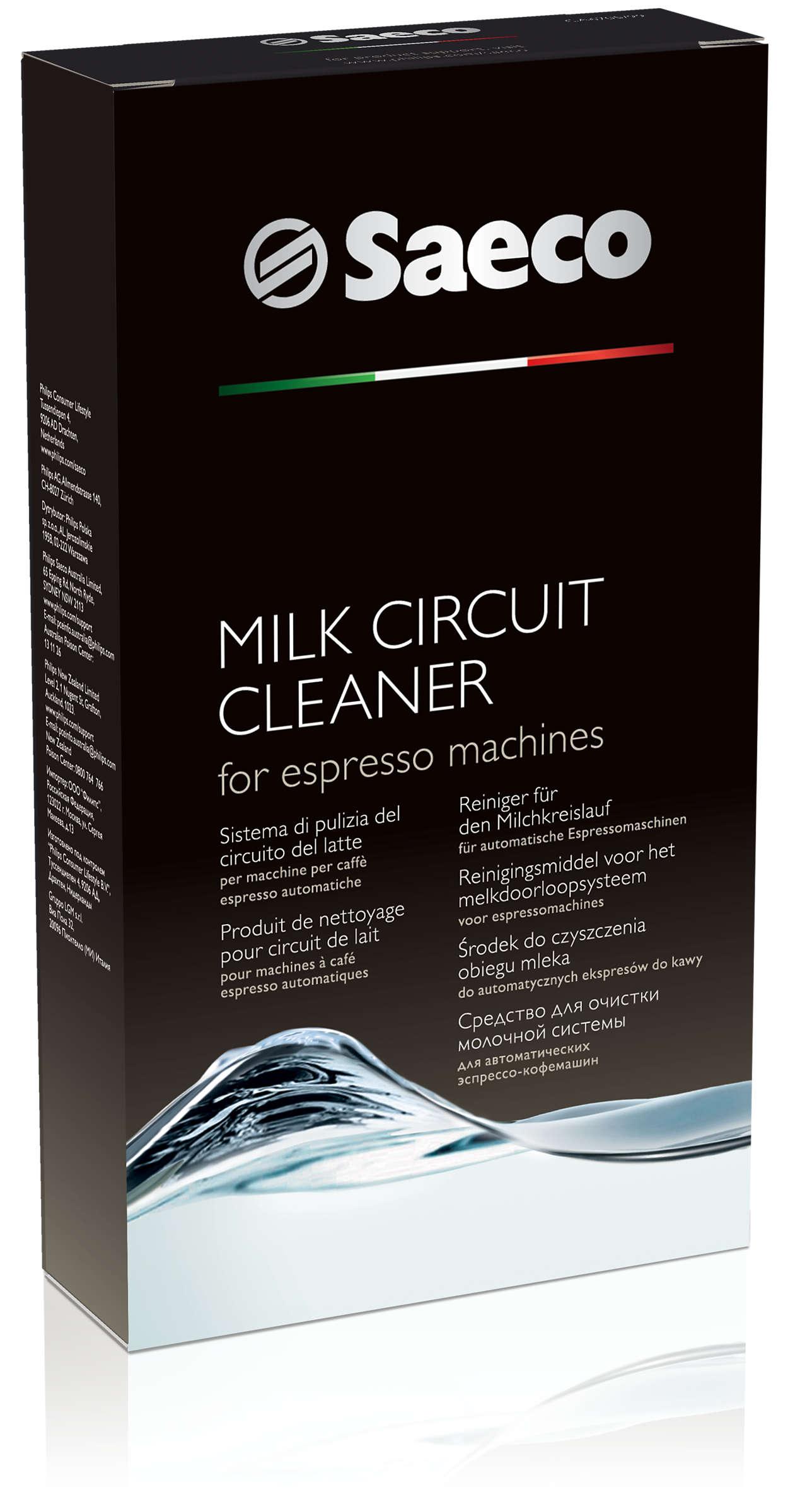 Tökéletesen tisztítja a tejadagoló alkatrészeket