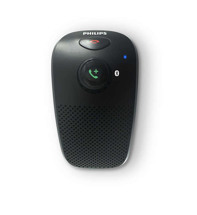 Bluetooth-luidsprekertelefoon voor in de auto