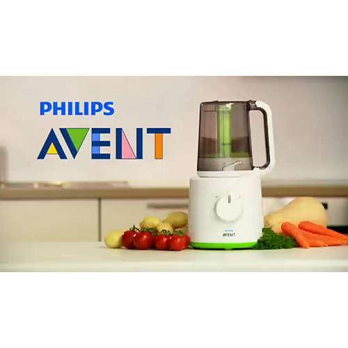 Robot cuiseur-mixeur 2-en-1 pour bébé