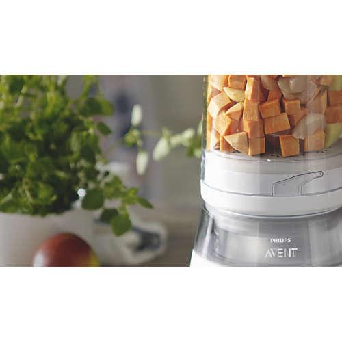 4-i-1-matlagingsmaskin for sunn babymat