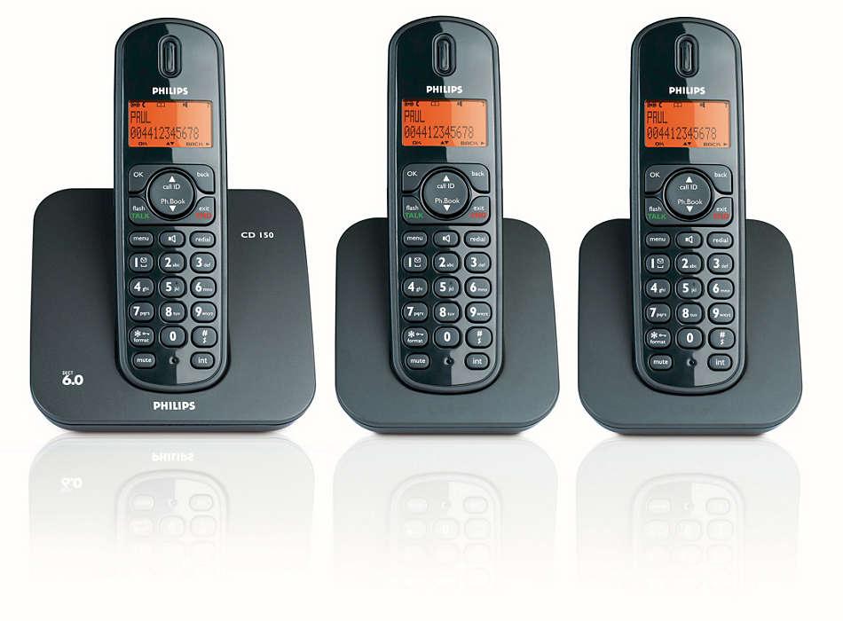 Système extensible de téléphones numériques sans fil