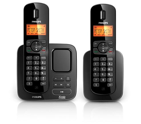 perfect sound t l phone fixe sans fil avec r pondeur cd1752b 38 philips. Black Bedroom Furniture Sets. Home Design Ideas