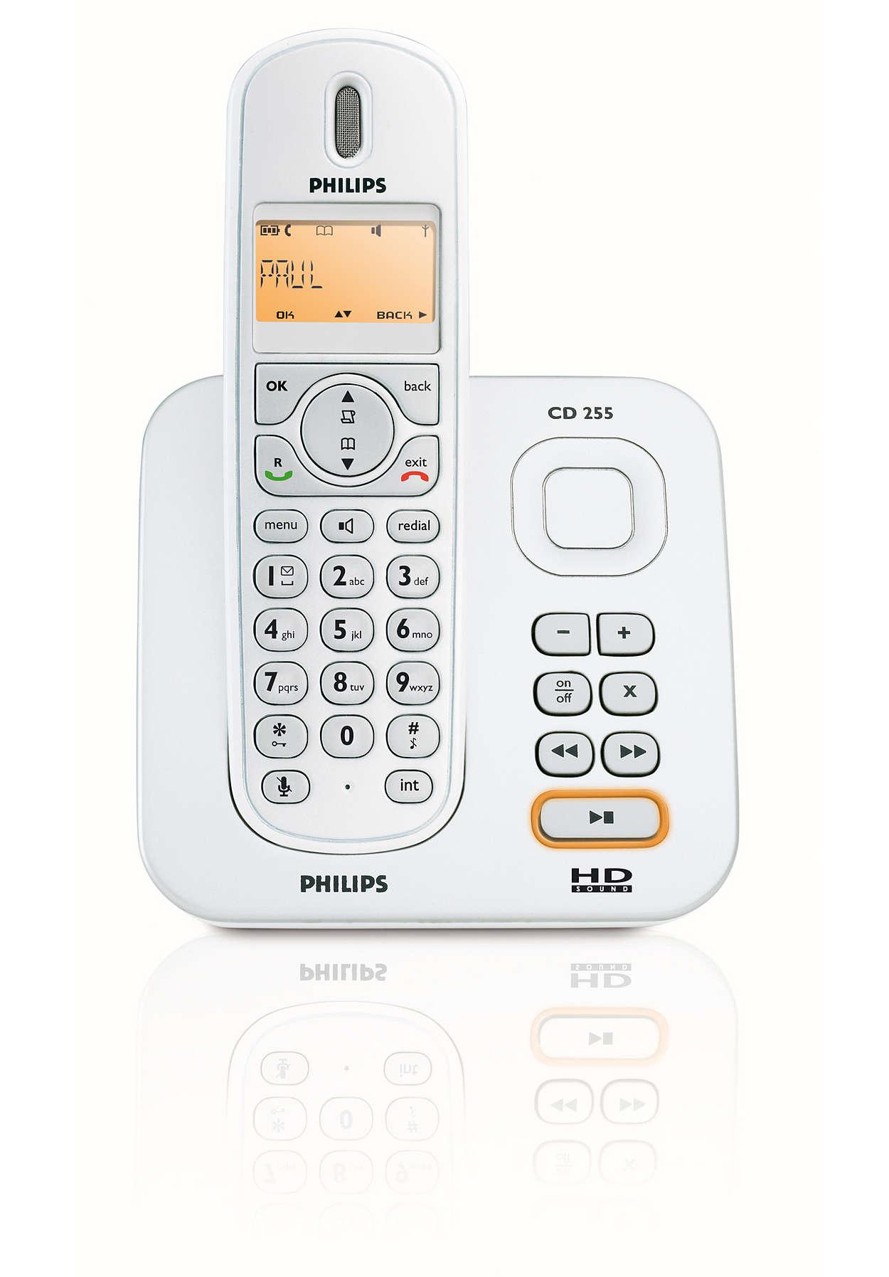Sp cifications pour t l phone sans fil avec r pondeur - Telephone sans fil avec repondeur pour senior ...