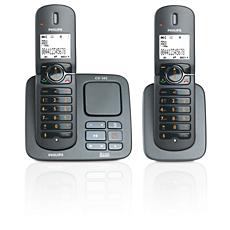 CD5652B/22 Perfect sound Téléphone fixe sans fil avec répondeur