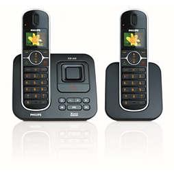 Perfect sound Téléphone fixe sans fil avec répondeur