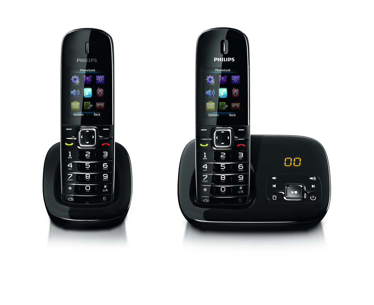 benear t l phone fixe sans fil avec r pondeur cd6852b fr philips. Black Bedroom Furniture Sets. Home Design Ideas